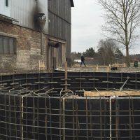 Graudu uzglabāšanas tvertņu – silosu pamatu būvniecība